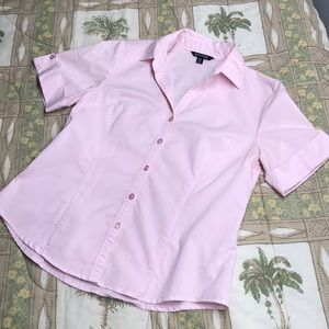 George Short Sleeve Pink Button Down Shirt